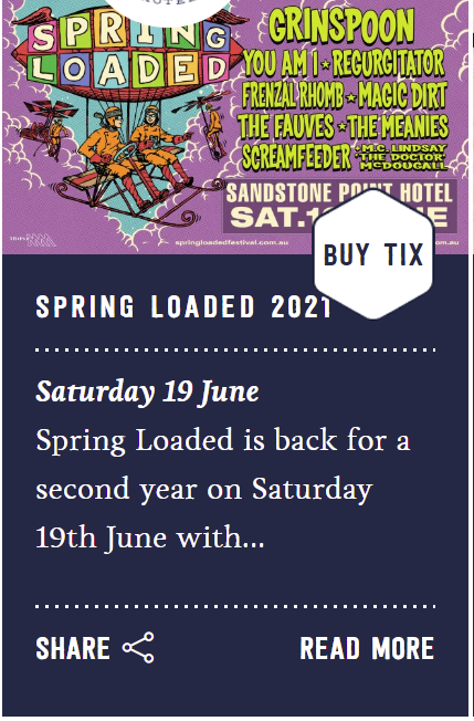 19th June Spring Loaded