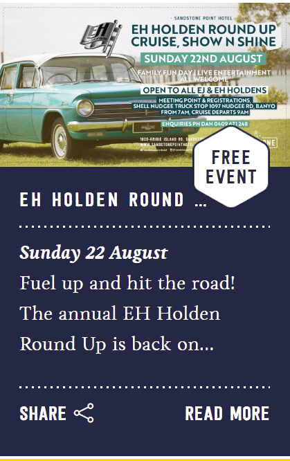 22 August EH holden event